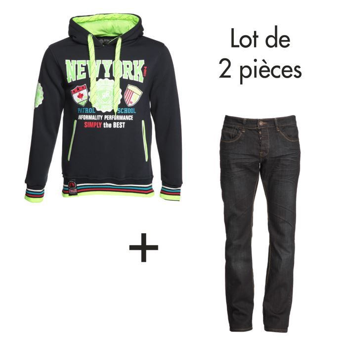RIVALDI Lot Sweat + Jean Homme