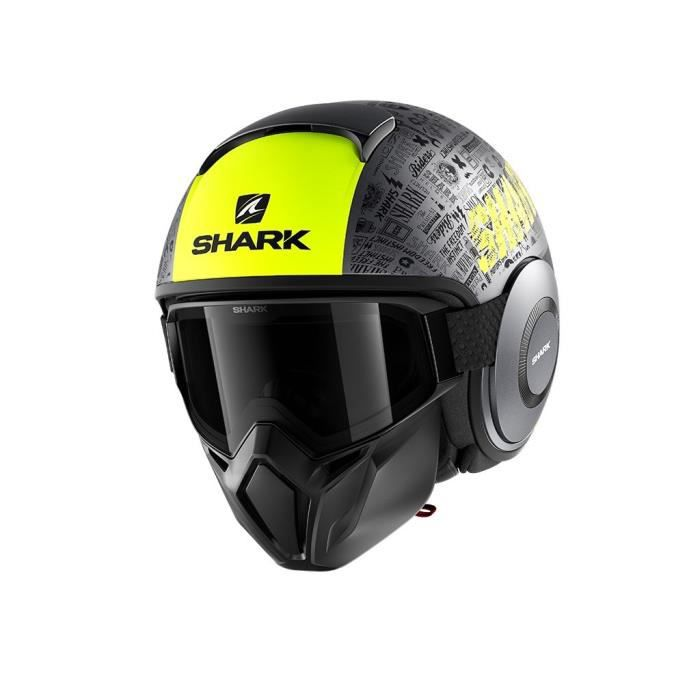SHARK Casque moto Jet Street Drak Tribute - Noir et jaune