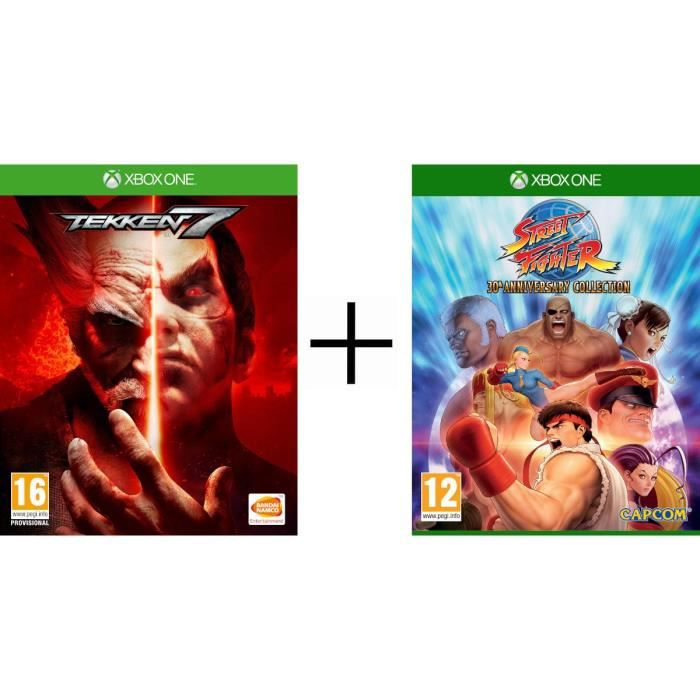Pack 2 jeux Xbox One : Tekken 7 + Street Fighter 30th Anniversary Collection