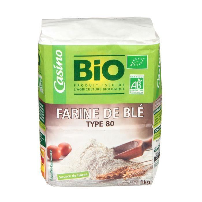 Farine semi complète bio T80