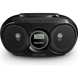 PHILIPS AZ215V - Poste Radio Lecteur CD, MP3, USB direct - Noir