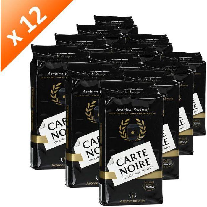 CARTE NOIRE Café Moulu Arabica 250g (x12)