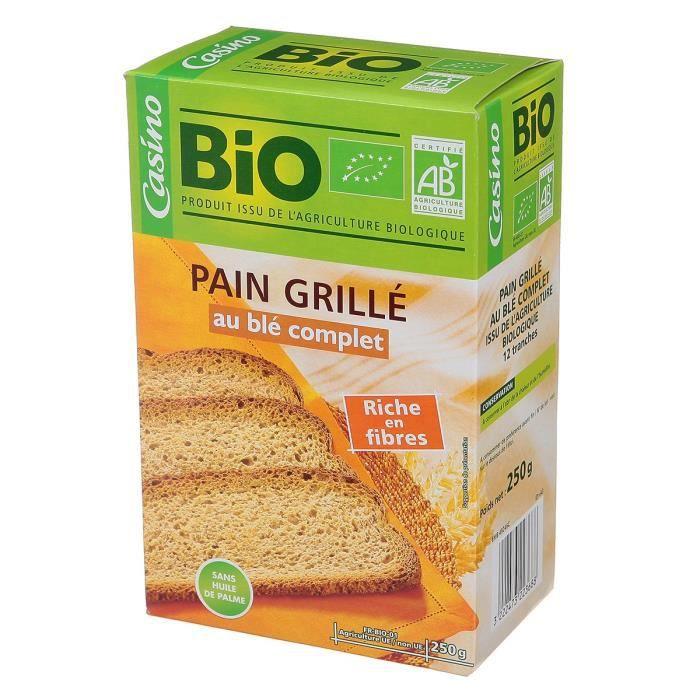 GIE PASQUIER Pain grillé au blé complet 250 g