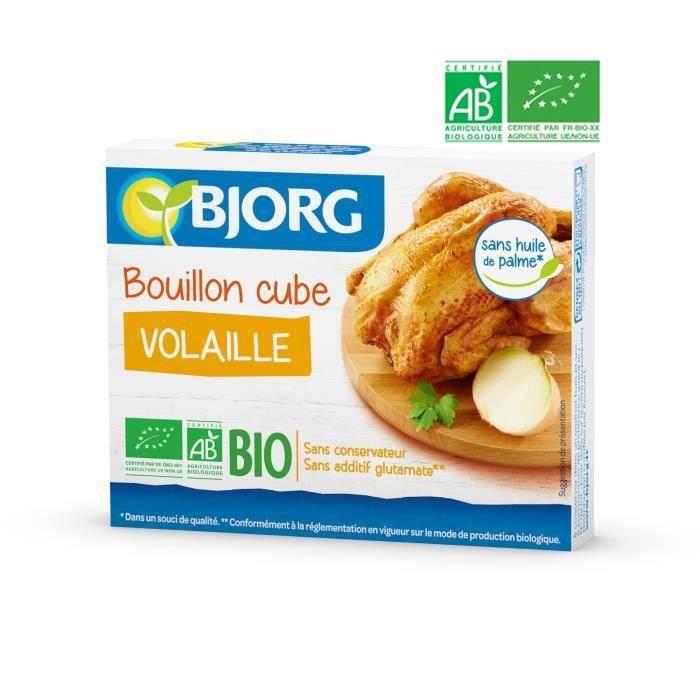 BJORG Bouillon Cube Volaille Bio 66g