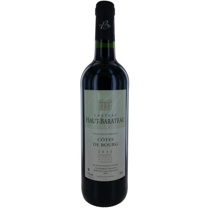 Château Haut-Barateau 2012 Côtes de Bourg - Vin rouge de Bordeaux