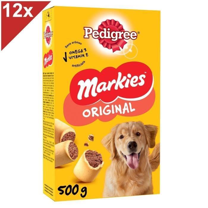 PEDIGREE Markies Biscuits fourrés - Pour chien - 12 x 500 g