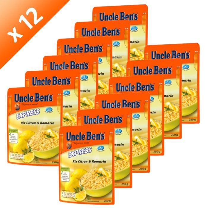 UNCLE BEN'S 2'Riz Citron Romarin (x12)