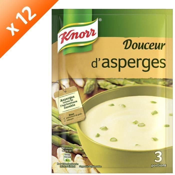 KNORR Soupe Douceur d'Asperges - Lot de 12x 96 g