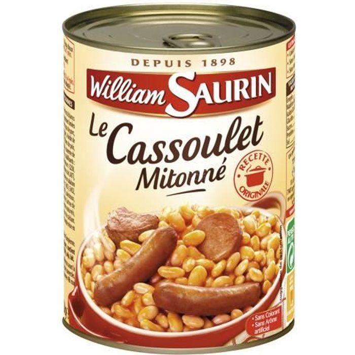 WILLIAM SAURIN Cassoulet mitonné 420g