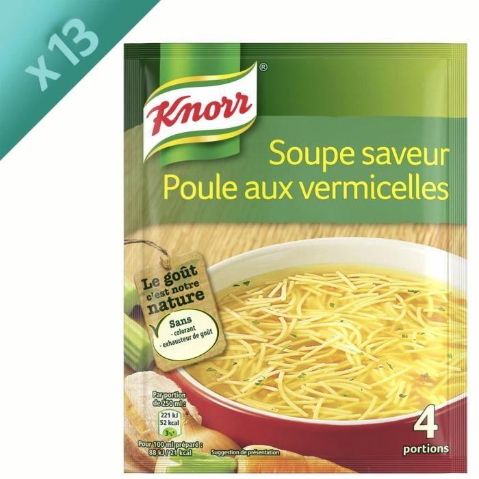 KNORR Soupe Poule Vermicelles - Lot de 13x 63 g
