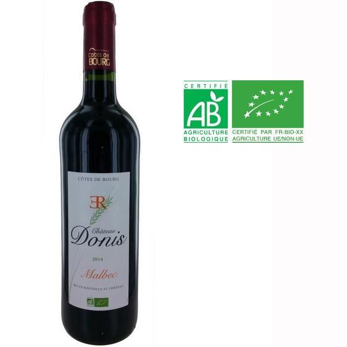 Château Donis 2014 Malbec Côtes de Bourg - Vin rouge de Bordeaux - Bio