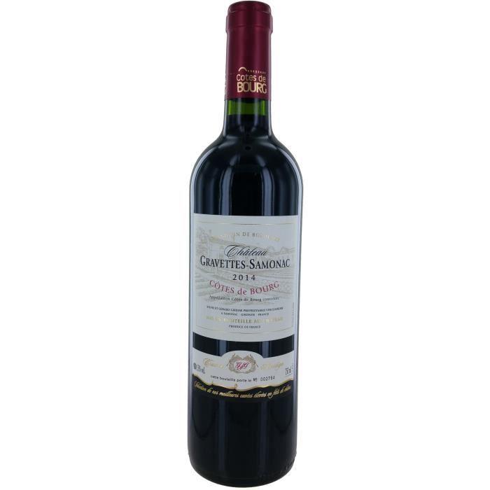 Château Gravettes-Samonac 2014 Côtes de Bourg - Vin rouge de Bordeaux