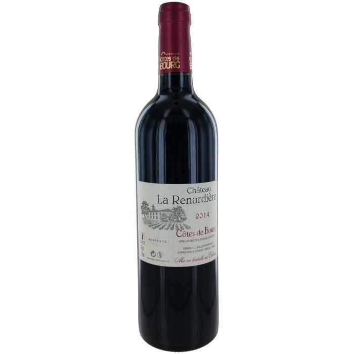 Château La Renardière 2014 Côtes de Bourg - Vin rouge de Bordeaux