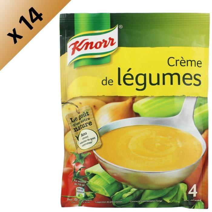 KNORR Soupe Crème de Légumes - Lot de 14x 112 g