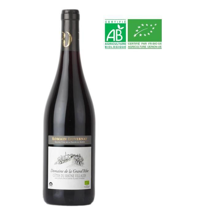 Domaine de la Grande Ribe 2015 Côtes du Rhône Villages - Vin rouge de la Vallée du Rhône Bio