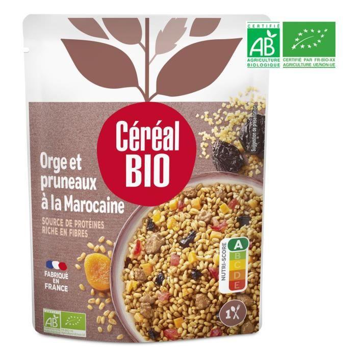 CEREAL BIO Plat cuisiné d'orge et pruneaux à la marocaine Bio - 220 g