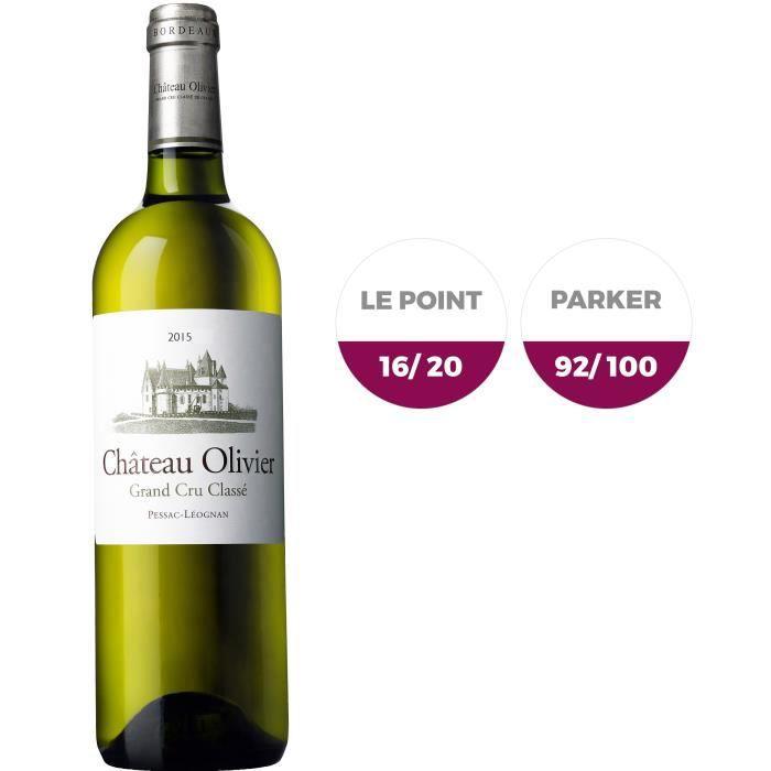 Château Olivier 2015 Pessac Léognan Grand Cru - Vin blanc de Bordeaux