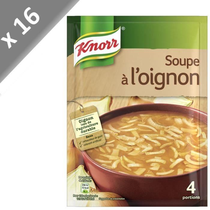 KNORR Soupe à l'Oignon - Lot de 16x 84 g