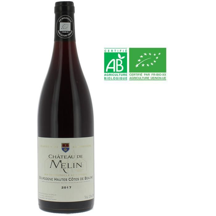 Château de Melin 2017 Bourgogne Hautes Côtes de Beaune - Vin rouge de Bourgogne - Bio