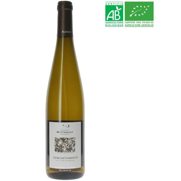 Domaine Mittnacht Les Terres Blanches 2017 Gewurztraminer - Vin blanc d'Alsace - Bio