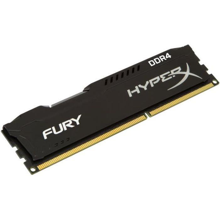 HyperX Mémoire PC FURY Black 8Go 2400MHz DDR4 CL15 DIMM HX424C15FB2/8