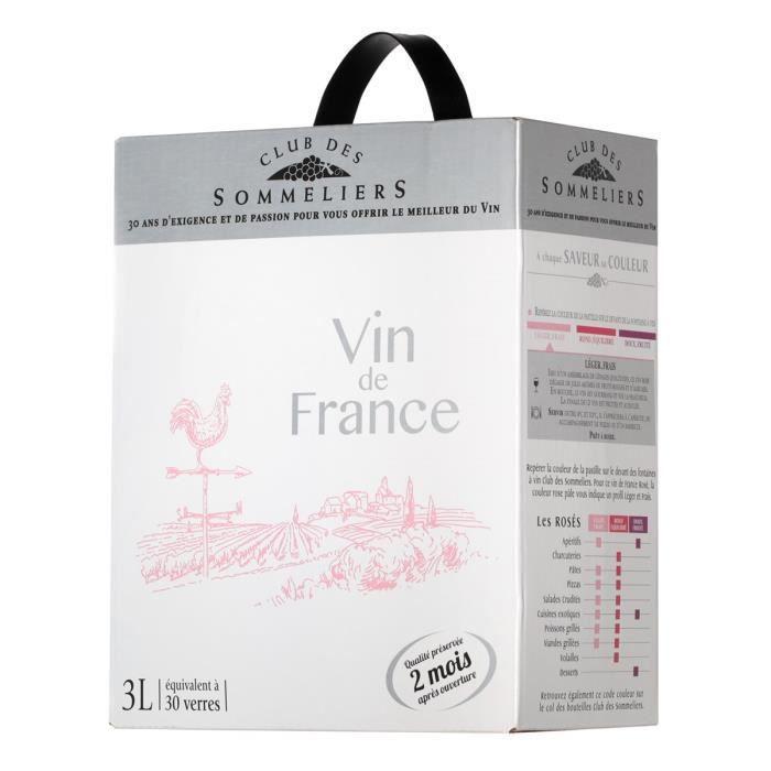 Club des Sommeliers Vin rosé de France - 3 L