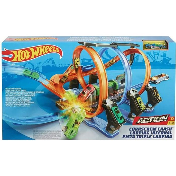 HOT WHEELS Action Circuit Motorisé Looping Infernal