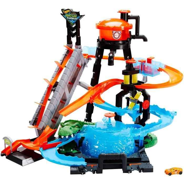 HOT WHEELS Station de Lavage Ultime - Circuit petites voitures