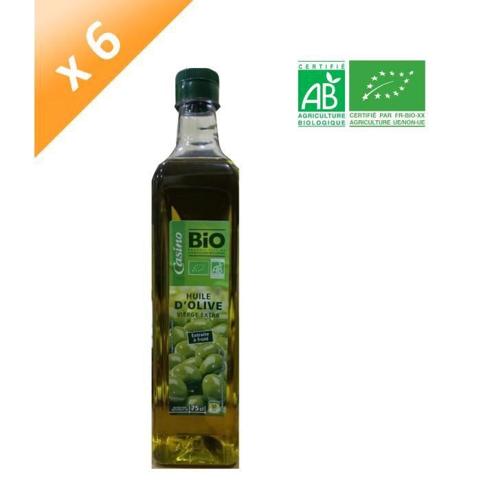 [LOT DE 6] Huile d'Olive - Bio - 75 cl