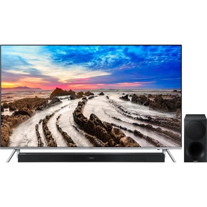 Pack samsung 55mu7005 tv led 4k samsung hw m450 barre de son