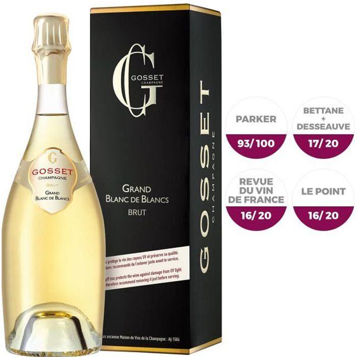 Champagne Gosset Grand Blanc de blancs avec étui