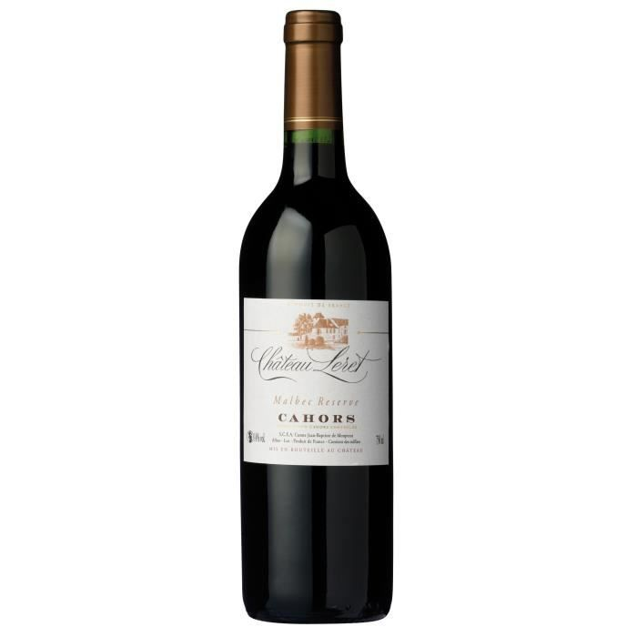 Château Leret Malbec Réserve 2018 Cahors - Vin rouge du Sud-Ouest