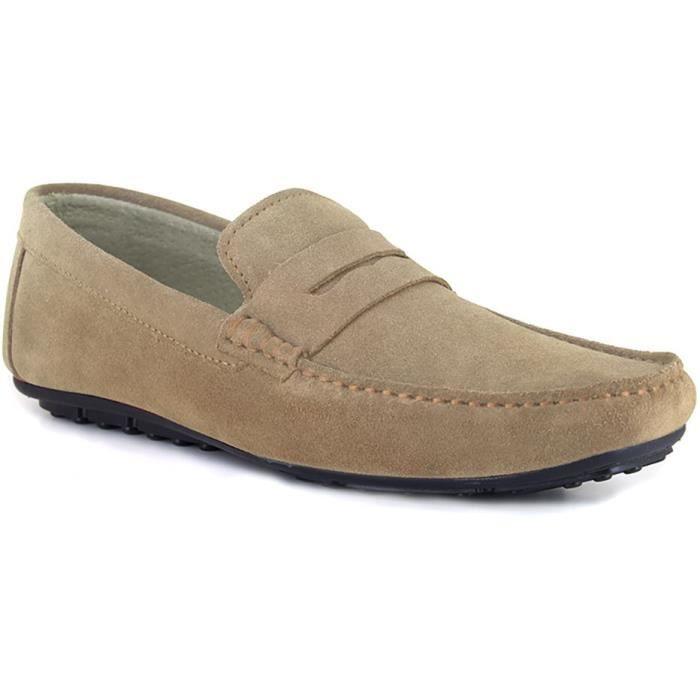 J.BRADFORD Chaussures Mocassins JB-Lowell Beige Homme