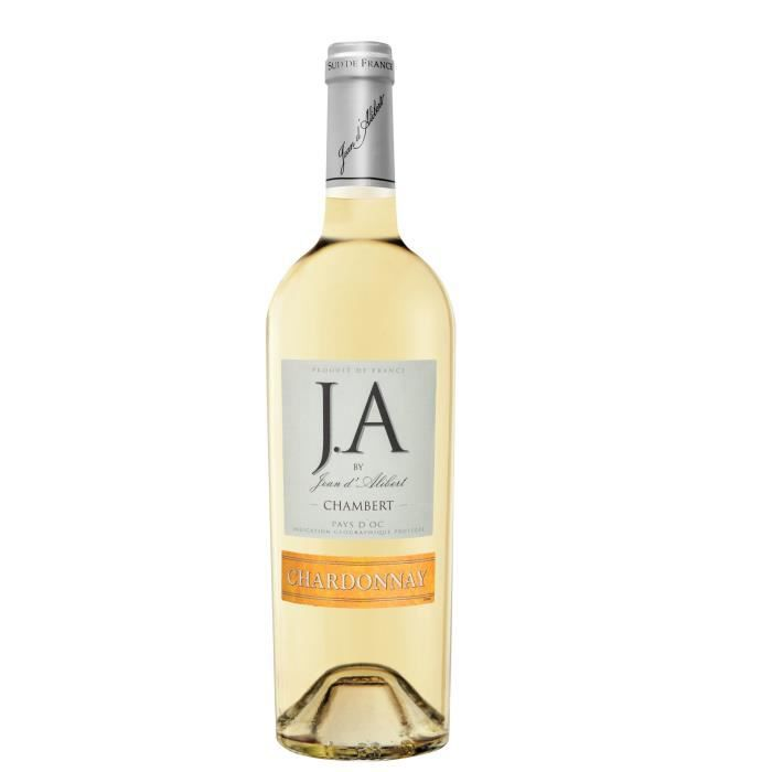 J.A By Jean d'Alibert Chardonnay Chambert Pays d'Oc - Vin Blanc du Languedoc-Roussillon