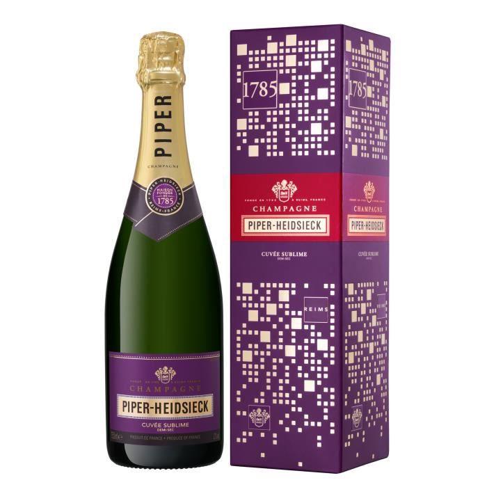 Champagne Piper Heidsieck Cuvée Sublime avec étui - 75 cl