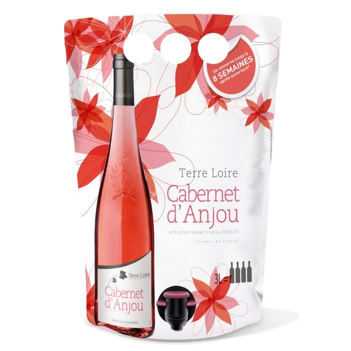 Terre de la Loire Cabernet d'Anjou - Vin rosé de la Loire - BIB 3L
