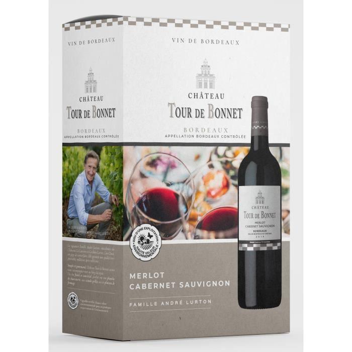 BIB Château Tour de Bonnet 2018 Bordeaux - Vin rouge de Bordeaux
