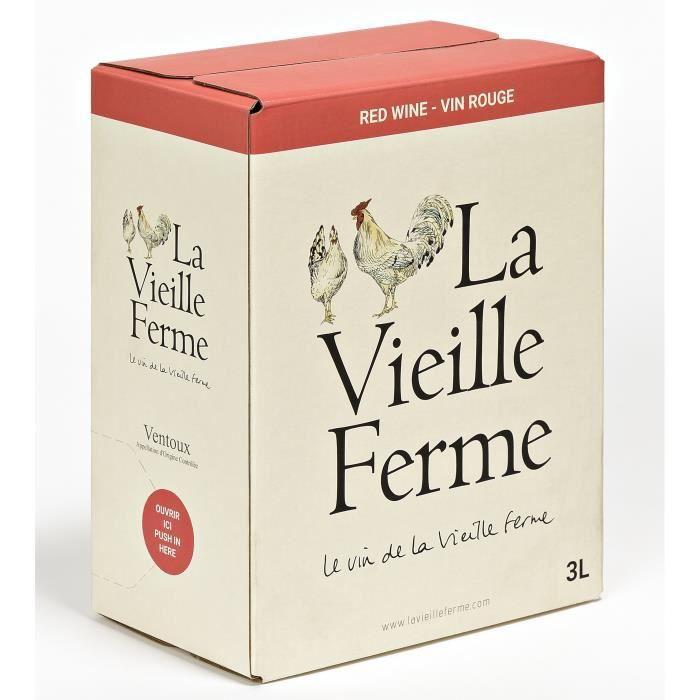 BIB La Vieille Ferme Ventoux - Vin rouge de la Vallée du Rhône 3L