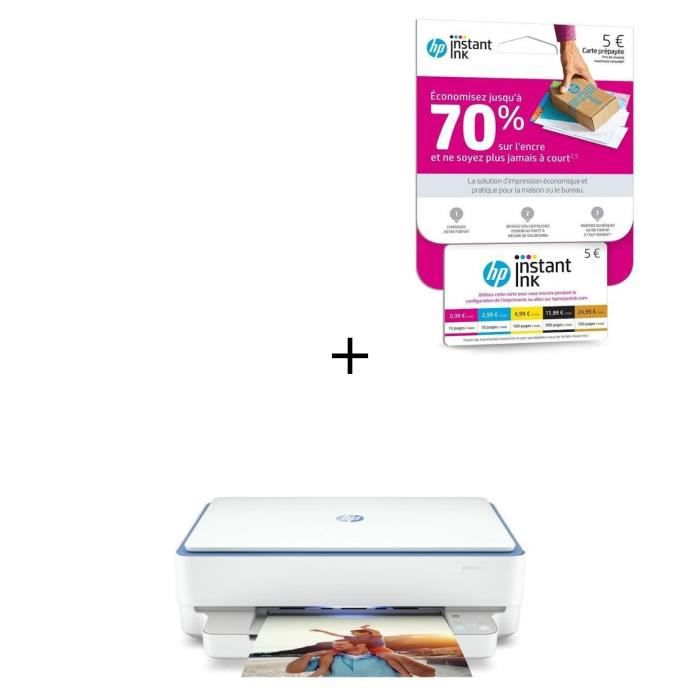 Imprimante 3 en 1 - HP Envy 6010 + Carte Instant Ink