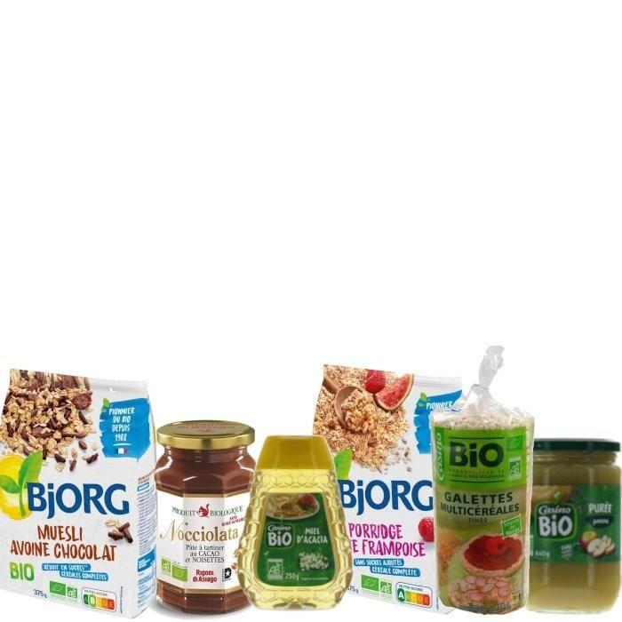 Kit complet pour petit déjeuner BIO - 6 produits