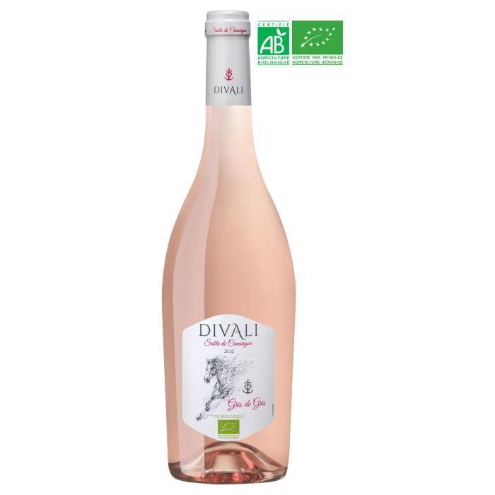 Divali Gris 2020 Sable de Camargue - Vin rosé de Languedoc-Roussillon - Bio