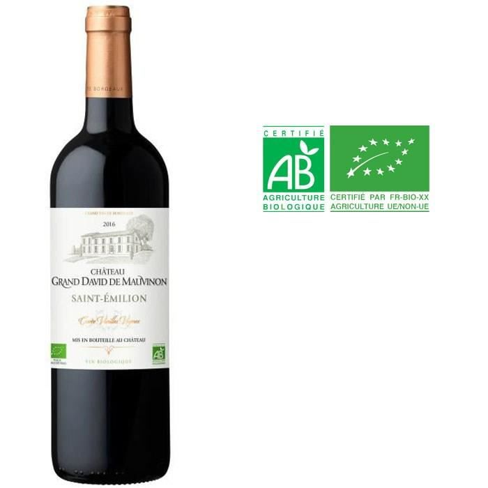 Château Grand David de Mauvinon 2017 Saint Emilion - Vin rouge de Bordeaux - Bio