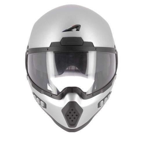 ASTONE Casque moto intégral Spectrum + Cagoule - Gris mat