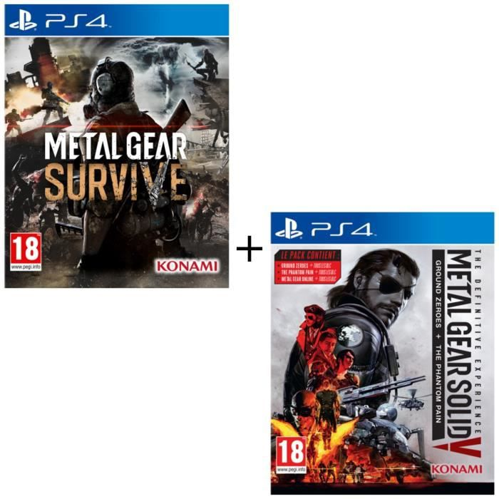 Pack Metal Gear Survive + Metal Gear Solid V The Definitive Experience Jeux PS4