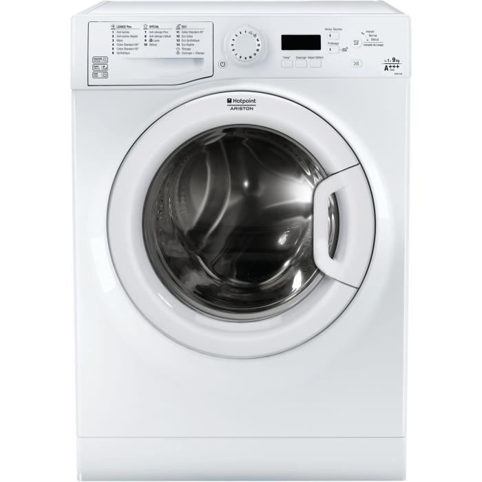 HOTPOINT EFMF 943 FR - Lave linge frontal - 9 kg - 1400 tours - A+++ - Moteur induction