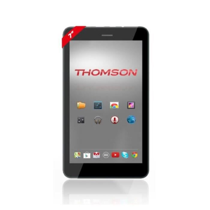 THOMSON Tablette Tactile - Ecran 7- - Android 5.1 - Quad Core A33 1.3 Ghz - 1 Go RAM - Stockage 8 Go