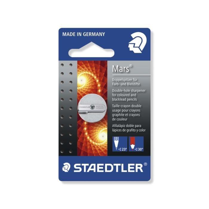 STAEDTLER Taille-Crayon Rond Métal 2 Usages