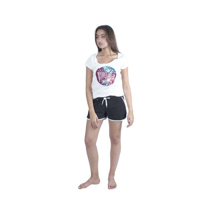 LONGBOARD T-shirt Imprimé Polynesian Visa Blanc cassé Femme