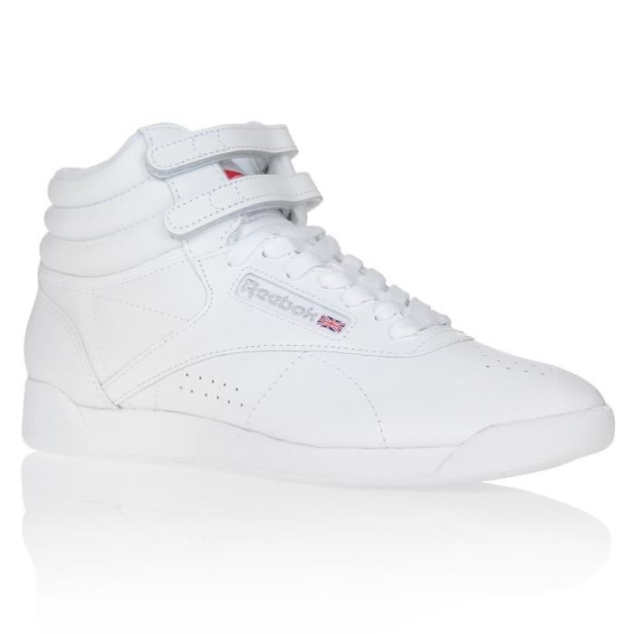 REEBOK Baskets Multisport Freestyle Hi - Femme - Blanc