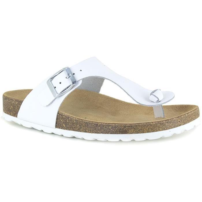 J.BRADFORD Chaussures Sandales JB-Abadia Blanc Femme